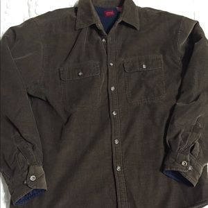 Arrow brown with blue heavy lining corduroy shirt